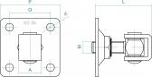Reguľovateľný pánt na priskrutkovanie s kontramaticou - INOX