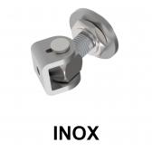 Reguľovateľný pánt na privarenie s kontramaticou - INOX