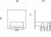 Krytka C-profilu samonosnej posuvnej brány, nerezová, 80x80