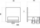 Krytka C-profilu 58x58x3 - INOX