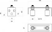 Vrchné vedenie s dvomi regulovatelnými nylonovými rolkami