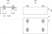 Vrchné vedenie so štyrmi regulovatelnými nylonovými rolkami