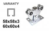 Vozík pre posuvnú bránu s 5 rolkami pre C-profil 58x58x3, zinkový