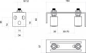 Vrchné vedenie s dvomi regulovatelnými nylonovými rolkami - inoxové