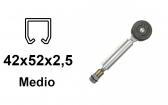 Vozík pre závesnú bránu 2 rolky s otočným pántom pre profil 42×52×2,5