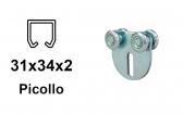 Vozík pre závesnú bránu 4 rolky s konzolou pre profil 34×31×2,0