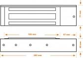 Elektromagnetický zámok povrchový so signalizáciou, ZE-04