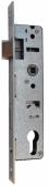 Zámok do bránky s hranatým niklovaným predkom pre zapustenie 45mm, ZZ-10
