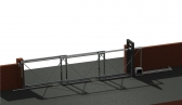 Teleskopický systém pre koľajovú bránu, trojdielnu, do 15m