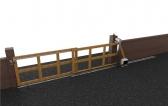 Teleskopický systém pre koľajovú bránu, dvojdielnu, do 4m