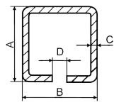 C-Profil 70x70x4 mm, Fe