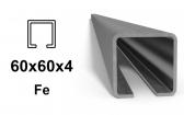C-Profil 60x60x4 mm, Fe
