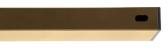 Stĺpik/priečnik, piesková farba, 60x40mm, Zn+PVC, dĺžka 2m