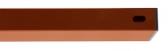 Stĺpik/priečnik, červenohnedá farba, 60x40mm, Zn+PVC, dĺžka 2m
