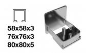Krytka C-profilu samonosnej posuvnej brány - INOX