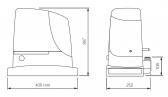 NICE Run RUN1500 - samostatný pohon pre posuvné brány (A)