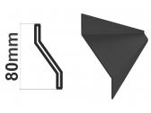 Z profil LS-Z1 20x30x20x1,5mm, čierny Fe, 2m - kus