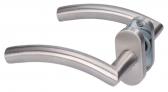 Kľučka rovná zvlnená z brúsenej nereze s oválnou rozetou
