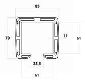 Hliníkový C-Profil 83x79x11 mm, AL
