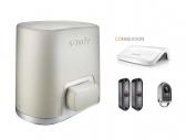 SOMFY Elixo Smart io EE sada pohonu s fotobunkami, ovládačom a smart home hubom pre ovládanie cez smartfón