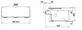 NICE BFABBOX - oceľový základový box pre pohony NICE Big-Fab, lakovanie čiernej farby