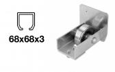 Spodný nájazd - INOX, 68x68