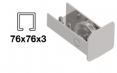 Spodný nájazd - INOX, 76x76