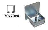 Krytka C-profilu samonosnej brány - pozinkovaná, 70x70