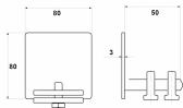 Krytka C-profilu samonosnej brány - pozinkovaná, 80x80