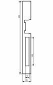 Lišta k elektrozámku, lakovaná, obojstranná, vhodná na rozteč zámku 90mm aj 72mm