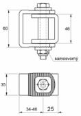 Nastaviteľný záves M10x85
