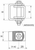 Nastaviteľný záves M10x65