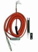 Špirálový kábel 5 žilový, 0,8-1,6m