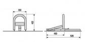 Parkovacia zábrana CAME UNIPARK 24V - kompletný set