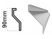 Z profil LS-Z2 23x60x25x1,5mm, pozinkovaný, s vystuženou hranou, 4m - kus