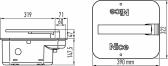 Jednokrídlová sada podzemného pohonu NICE M-Fab ME3000 do krídla 600kg/3m