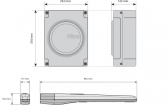 Sada pohonu NICE Toona 5024I pre jednokrídlovú bránu do 5m/600kg s fotobunkami