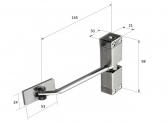 Dverový pružinový zatvárač, max. dl. 900 mm / 40 kg, INOX