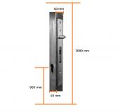 Profil 40x40x1,5 mm s hákovým zámkom, dĺžka profilu 2 m