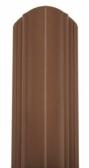 Oceľová plotová lamela Premium, hnedá
