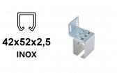 Bočný úchyt pre C-profil závesnej brány 42×52×2,5-INOX