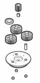 PRHO04 - kit ozubených koliesok