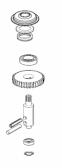 PRME02 - kit výstupnej hriadele prevodovky s ložiskami a guferom