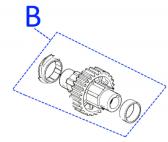 PRSO02 - výstupný hriadeľ