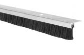 Hliníková tesniaca lišta s nylonovou kefou, vlas dĺžky 14 mm, spodná, 1m
