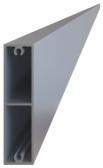 Hliníková plotová lamela 60x16 mm, tvar obdĺžnik, dĺžka 6 m