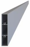 Hliníková plotová lamela 80x16 mm, tvar obdĺžnik, dĺžka 6 m