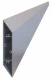 Hliníková plotová lamela 108x16 mm, tvar kosodĺžnik, dĺžka 6 m