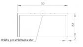 Hliníkový U profil - 50x22x6000 mm