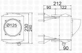Jednokomorový semafor, LED, 230V, IP65